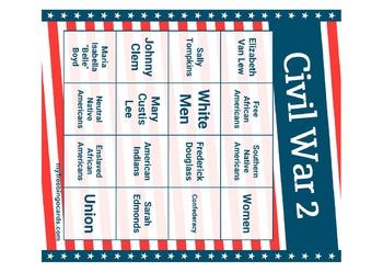 Civil War Bingo Set 2