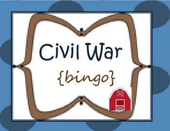 Civil War {Bingo} ready to print....