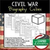 Civil War Activity Biography Cube and Writing Extension