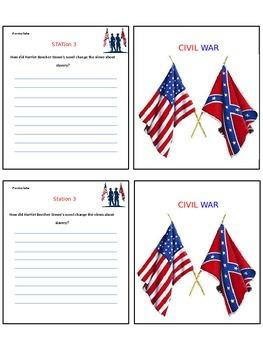 Civil War Bloom's Question Book