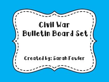 Civil War (SS5H1) Bulletin Board Set