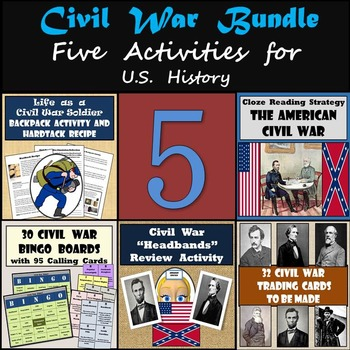 Civil War Bundle - 5 Activities to Engage Your Students -