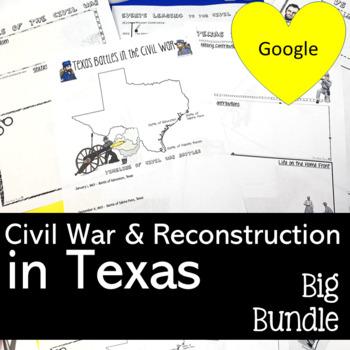 CIVIL WAR IN TEXAS ACTIVITIES AND GAMES BUNDLE