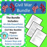 Civil War Bundle – Upper Elementary – No Prep, Print & Go