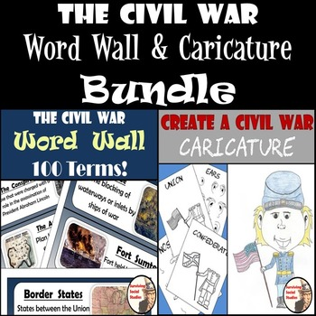 Civil War Bundle - Word Wall with 100 Terms & Create a Civ