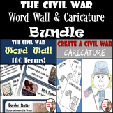 Civil War Bundle - Word Wall with 100 Terms & Create a Civil War Caricature
