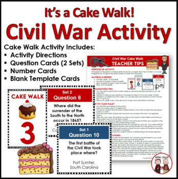 Civil War Cake Walk Review Game