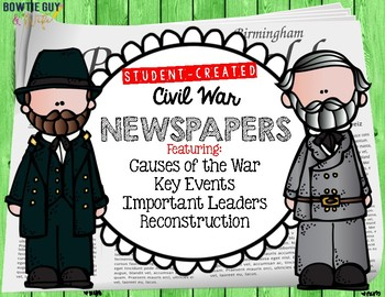 Civil War Causes, Events, Key Leaders, Reconstruction Newspapers and Posters