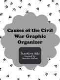 Civil War Causes Graphic Organizer