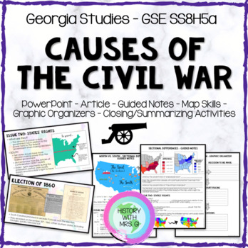 Civil War Causes SS8H5a GSE