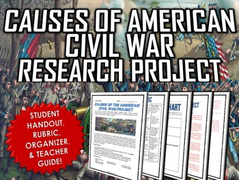 Civil War - Causes of the Civil War - Research Project wit