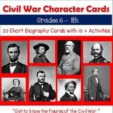 Civil War: Character Cards