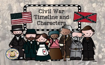 Civil War Characters Powerpoint and Timelne