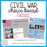 Civil War Choice Board [FREEBIE]