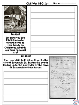 Civil War Christmas Document Based Question (DBQ) Set