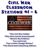 Civil War Classroom Stations # 1 - 6