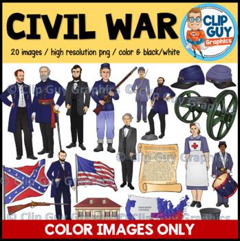 Civil War Clip Art Bundle - COLOR IMAGES ONLY {Clip Guy Graphics ClipArt}