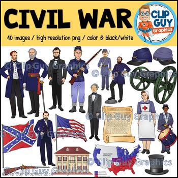 Civil War Clip Art Bundle {Clip Guy Graphics ClipArt}