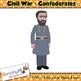 Civil War Clip art - Confederates