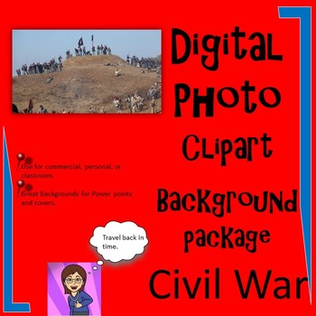 Civil War Clipart Digital Photo Background: 43 :Commercial or Personal Use