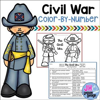 Civil War Color-By-Number