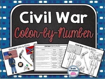 Civil War: Color-by-Number Activity
