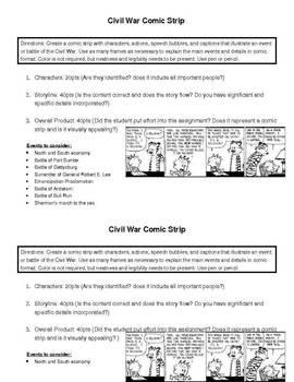 Civil War Comic Strip