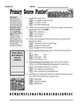 Civil War Comic--Teacher's Guide