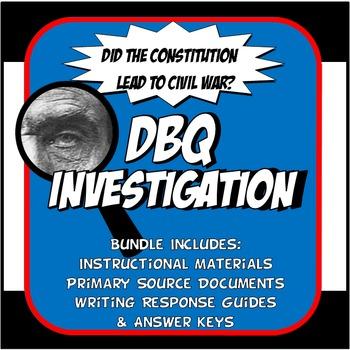 DBQ Civil War Common Core Document Based Question Activity