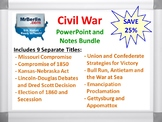 Civil War PowerPoint and Notes Bundle