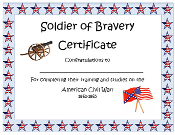 Civil War Completion Certificate