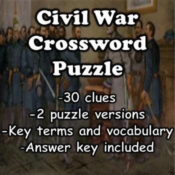 Civil War Crossword