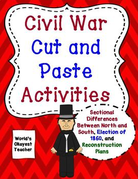 Civil War Cut and Paste Activities