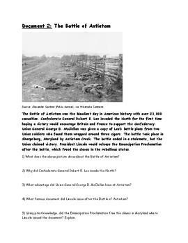Civil War DBQ (Battles, Gettysburg Address, Emancipation Proclamation)