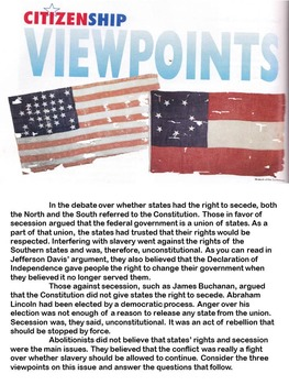 Civil War Different Viewpoints: The Right to Secede from the Union