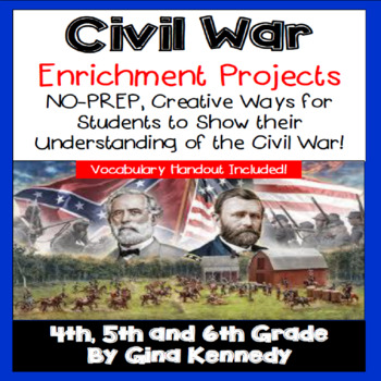 Civil War Writing and Research Projects for Upper Elementary Students