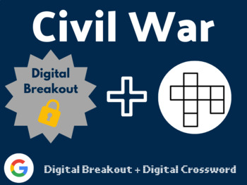 Civil War Digital Bundle (Digital Breakout, Digital Crossword)