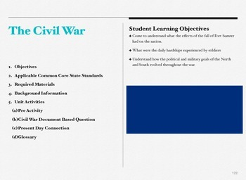 Civil War Document Based Question ( 2 weeks worth of lessons)