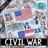 Civil War Doodle Notes and Digital Guided Notes