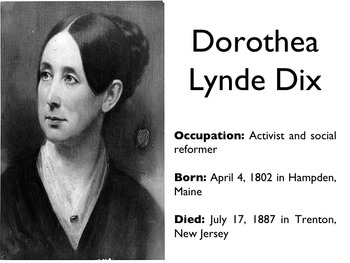 Civil War - Dorothea Dix PowerPoint