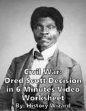 Civil War: Dred Scott Decision in 6 Minutes Video Worksheet