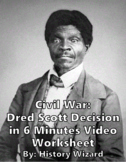 Civil War: Dred Scott Decision in 6 Minutes Video Worksheet