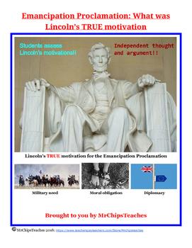 Civil War - Emancipation Proclamation
