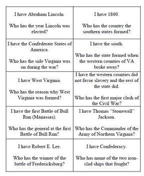 Civil War-Entire Unit Materials Bundled: Virginia Studies SOLs7a-7c