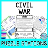 Civil War Puzzle Station Activity - Abraham Lincoln   Gettysburg