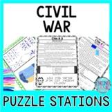 Civil War Puzzle Station Activity - Abraham Lincoln | Gettysburg