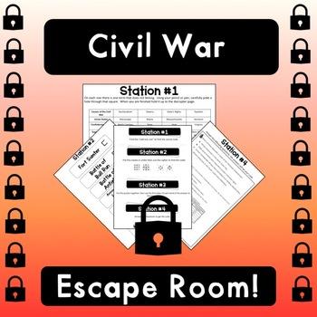 Civil War Escape Room (STAAR PREP)