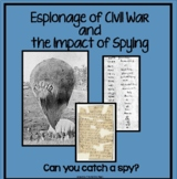 Civil War Espionage-Can You Catch a Spy?