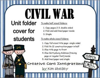 Civil War Essential Questions and Folder Cover