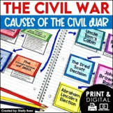 Civil War Map and Activities | Civil War Cause and Effect